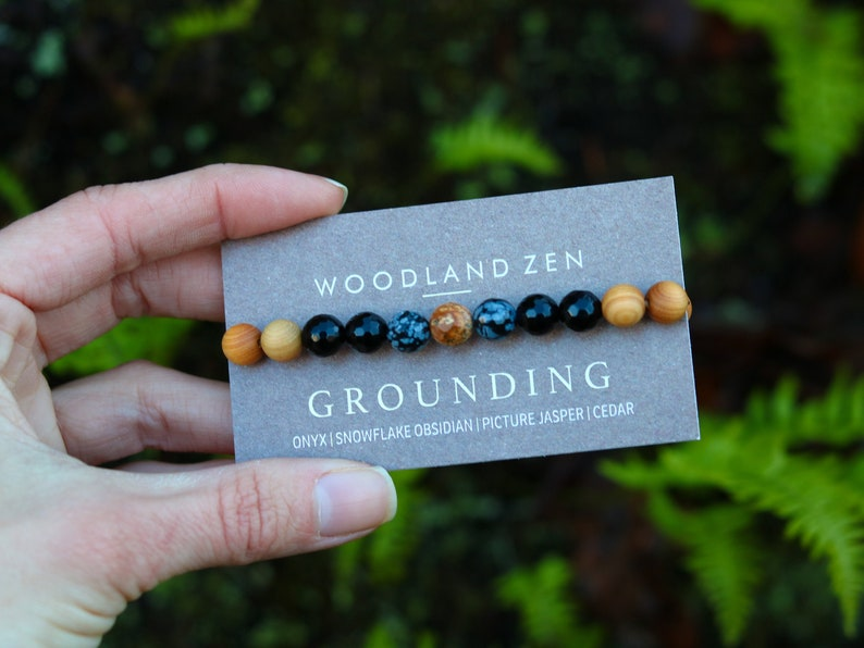 Gemstone Grounding Bracelet Healing Crystal Yoga Bracelet for image 0