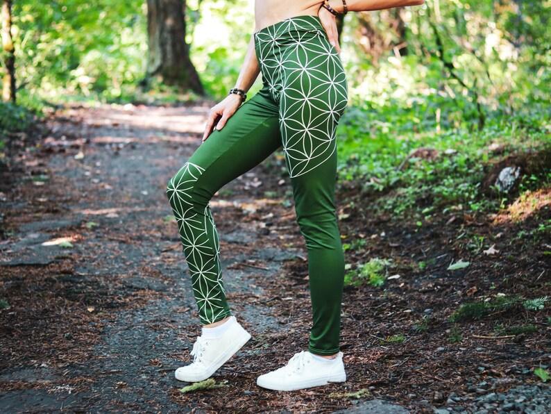 Flower of Life Yoga Pants for Women Sacred Geometry Festival image 0