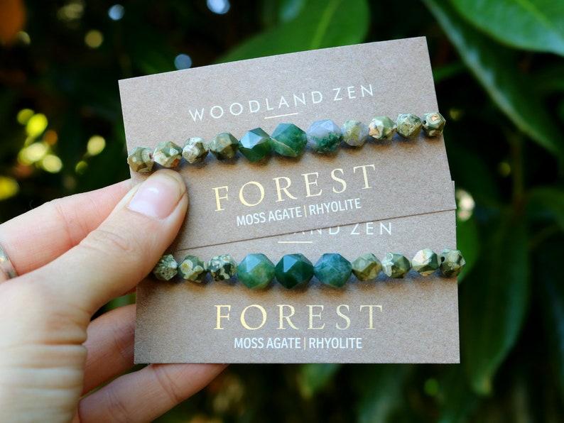 Womens Yoga Bracelet Healing Gemstone Chakra Bracelet image 0
