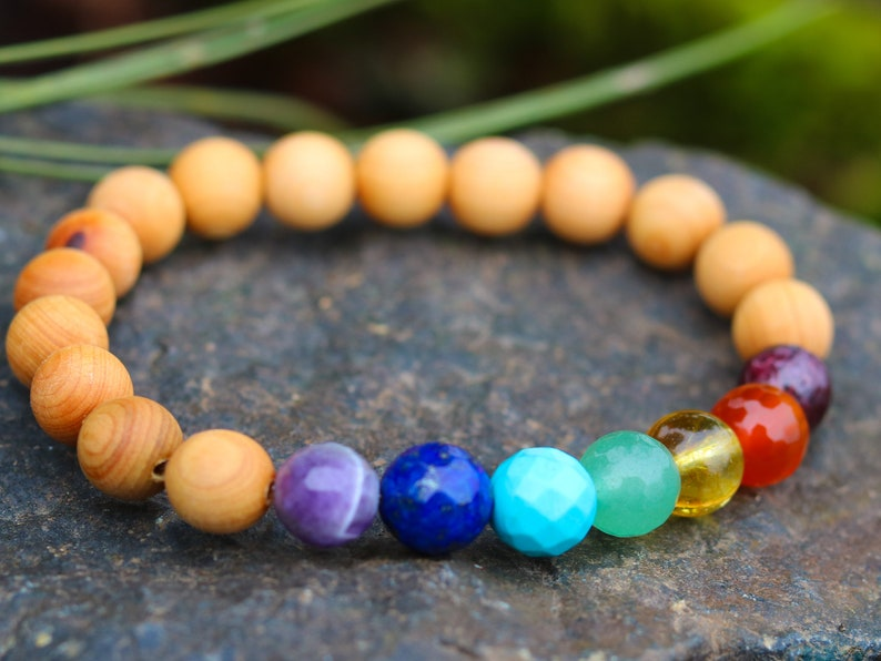 Natural Stone Energy Bracelet Mens Jewelry Healing Crystal 7 Chakra Bracelet Womens Bracelet Chakra Bracelet Gemstone Jewelry