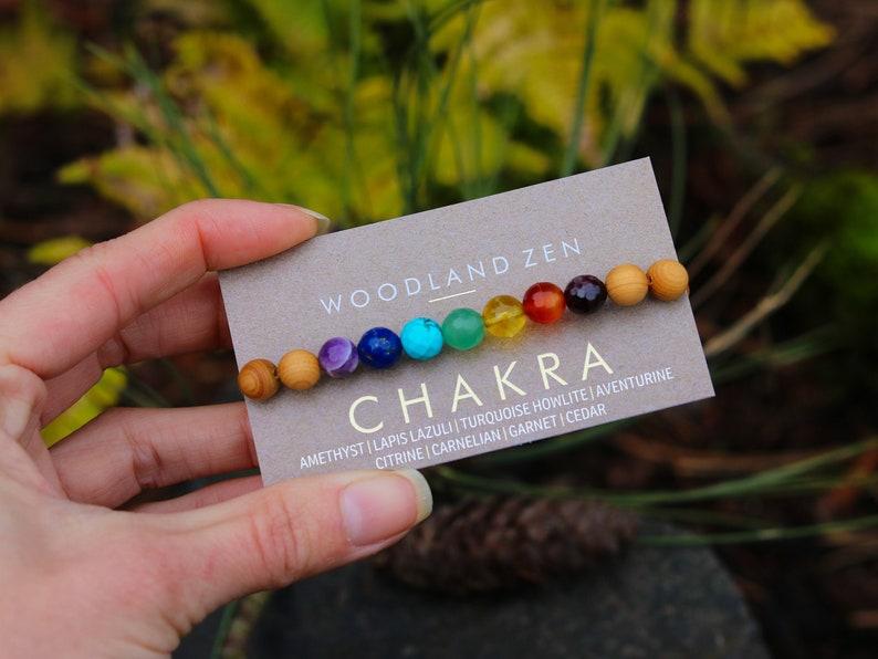 Healing Crystal Chakra Bracelet Gemstone Jewelry for Women image 0