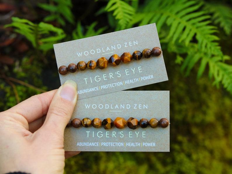 Tigers Eye Bracelet Healing Crystal Stone Bracelets Natural image 0