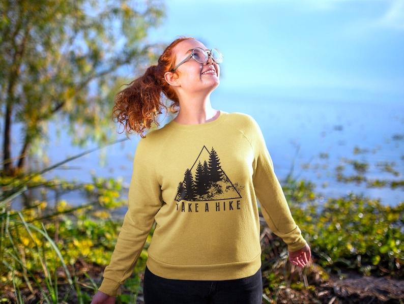 Wanderlust Adventure Yoga Shirt Womens Hiking Camping Womens image 0