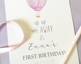 air balloon invite etsy