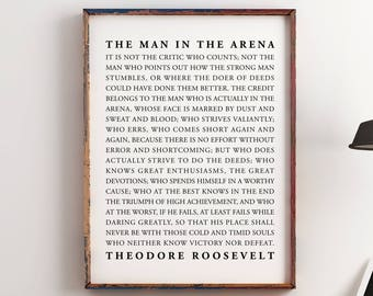Exceptionnel The Man In The Arena Printable, Motivational, Inspirational Quote, Office  Decor, Dorm Decor, Daring Greatly, Home Decor, House Warming Gift
