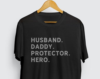 3ccf39c3 Husband Daddy Protector Hero T-Shirt, Fathers Day gift, Dad Gift, Gift for  Husband, Husband Shirt, Mens Shirt, Best Dad Husband Gift