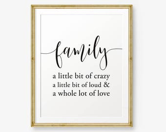 Love Makes A Family House Warming Gift Inspirational Etsy