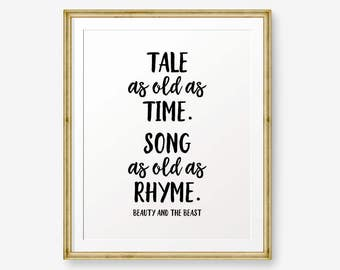 Song As Old As Rhyme Etsy