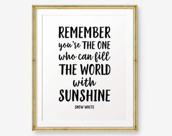 Snow white quote | Etsy