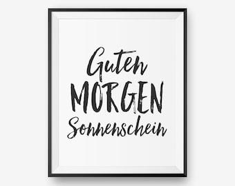 Items Similar To Guten Morgen Sonnenschein German Good