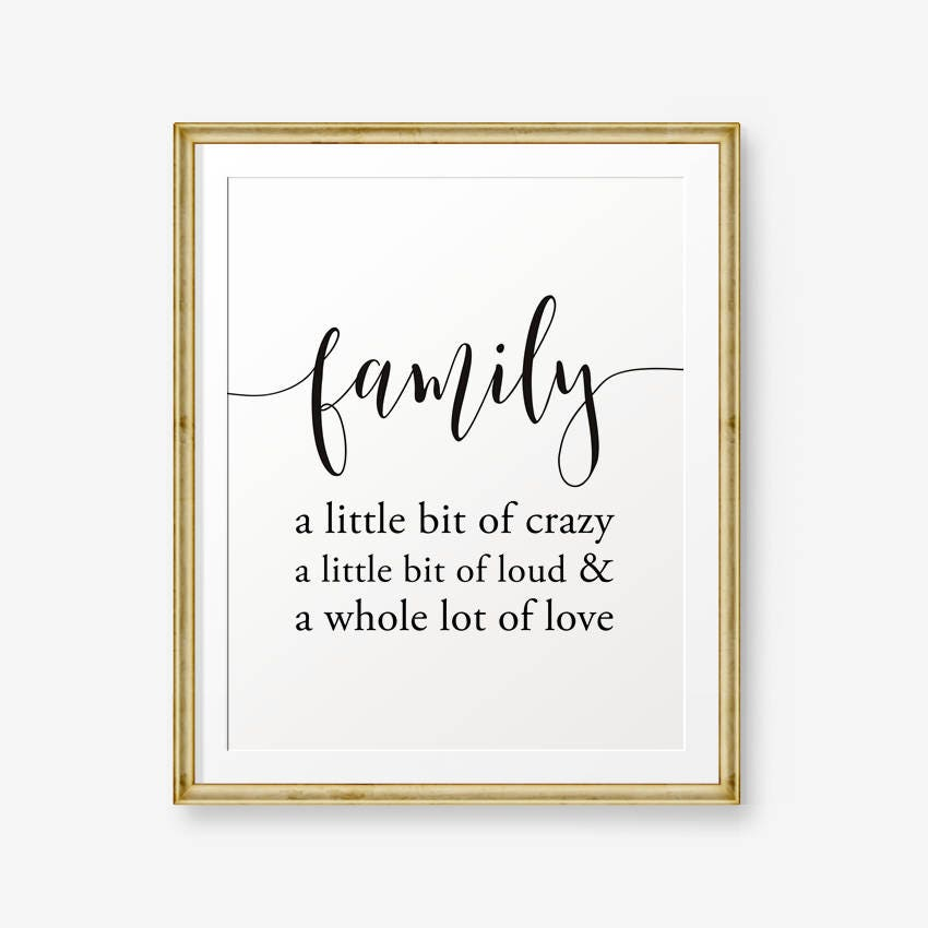 Family Sign House Warming Gift A Little Bit Of Crazy Etsy
