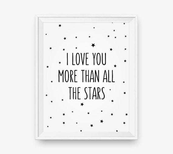 Te amo más que todas las estrellas niños infantiles para | Etsy