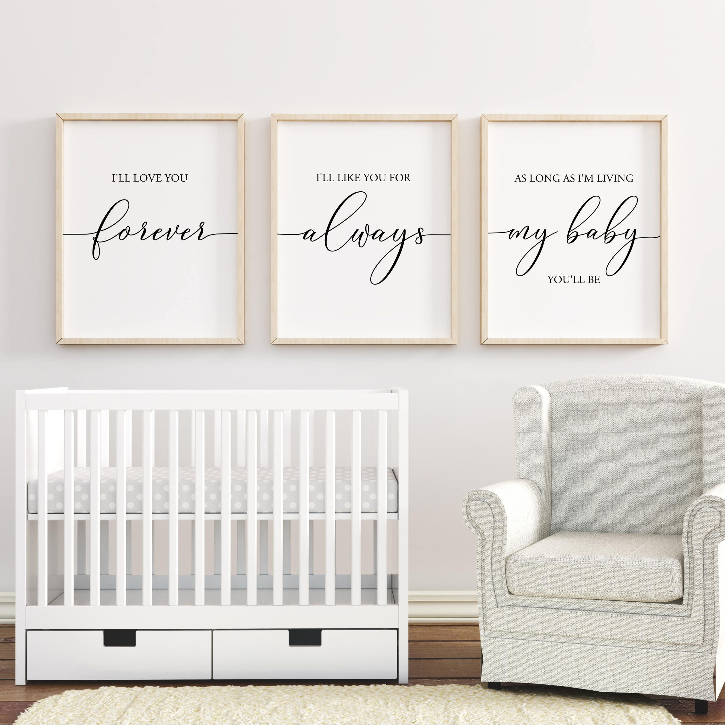 Nursery Ideas And Décor To Inspire You: I'll Love You Forever Printable Nursery Wall Art Nursery