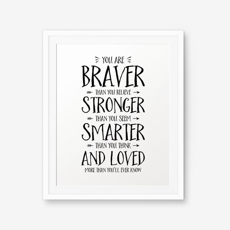 Winnie The Pooh Quote  You are braver than you believe... image 0