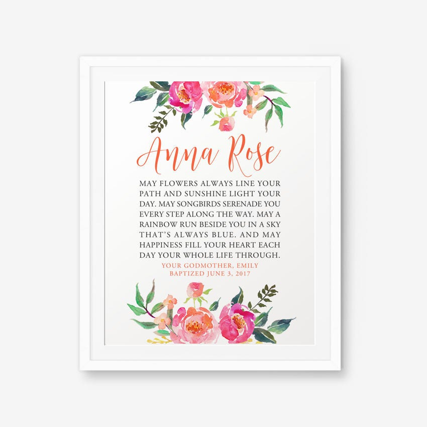GODDAUGHTER gift, Personalized Goddaughter gift Printable ...