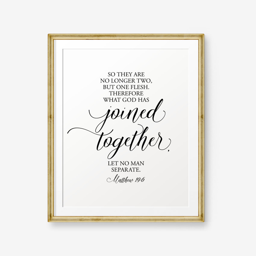 Wedding Ring Bible Quotes: SALE Bible Verses Printable Matthew 19:6 Love Quote