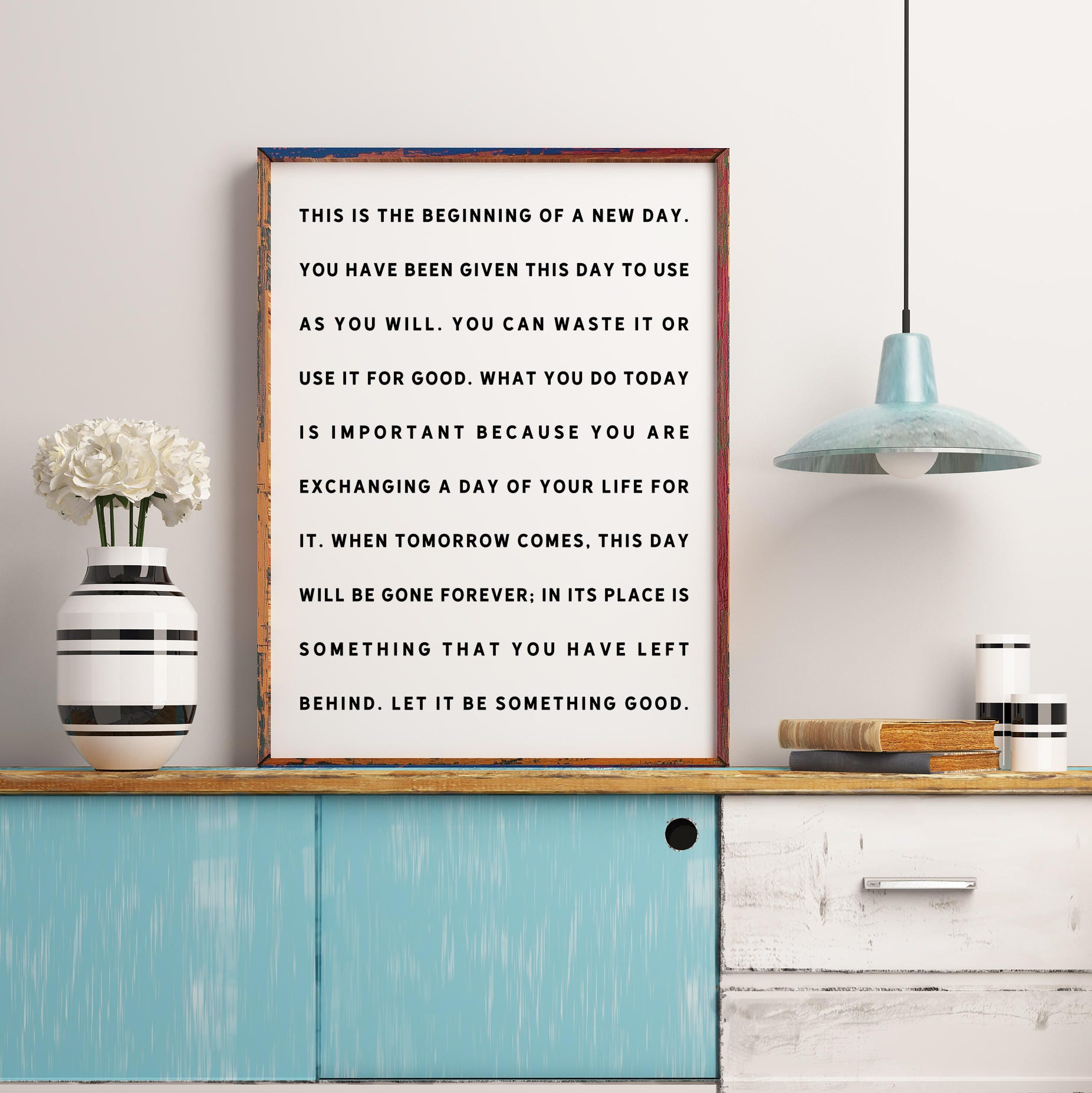 This Is The Beginning Of A New Day Printable Inspirational Quotes