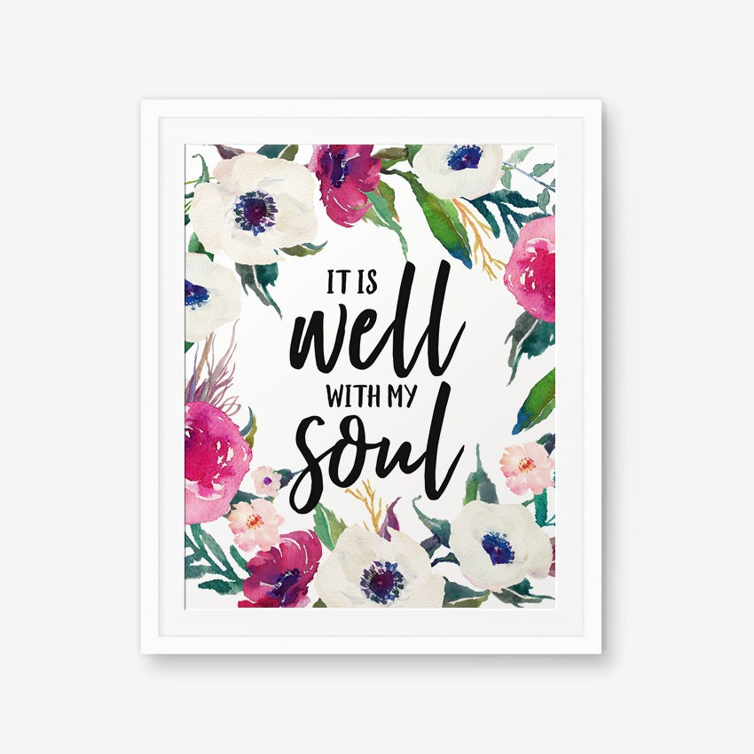 image relating to It is Well With My Soul Printable identified as It is very well with my soul, Anniversary marriage Printable
