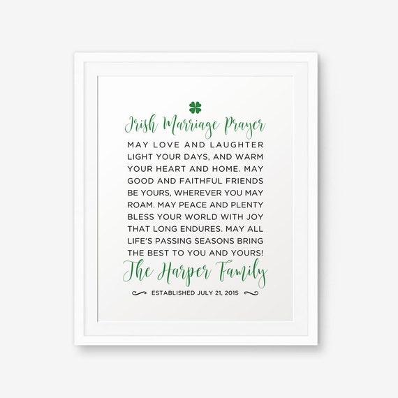graphic regarding Printable Irish Blessing identify Custom-made Irish Partnership Blessing Printable, Irish Anniversary Present, Irish Wedding day Reward, Irish Blessing. Irish Prayer