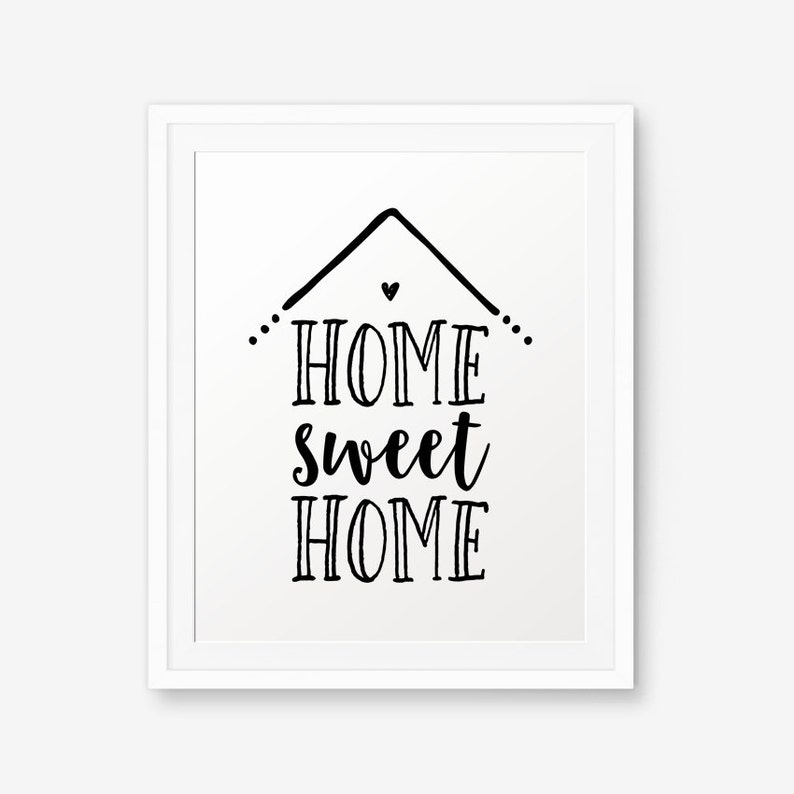 photo relating to Home Sweet Home Printable named Residence Adorable Property Printable, Dwelling wall artwork, Inspirational Print, Property Decor