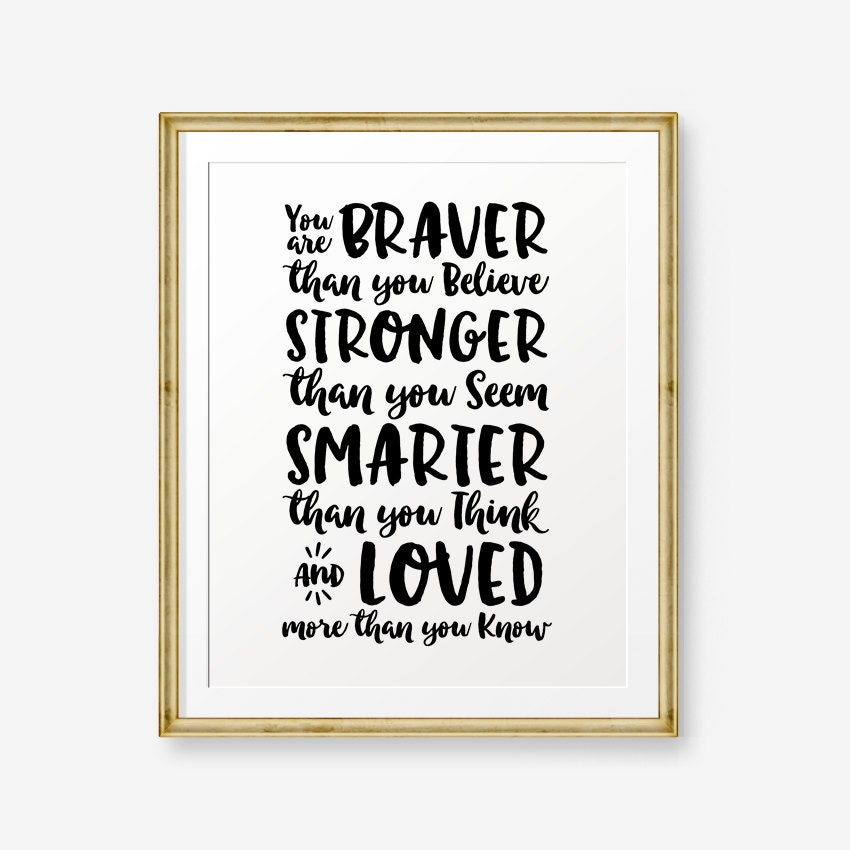 Winnie The Pooh Quote Braver Than You Know Archidev