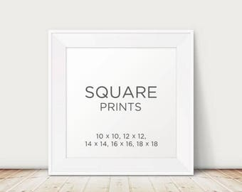 Any PrintableSKY design to be printed and mailed as a Square Prints - Different Sizes