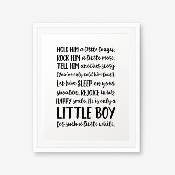 Hold Him A Little Longer Baby Boy Nursery Printable Nursery Etsy