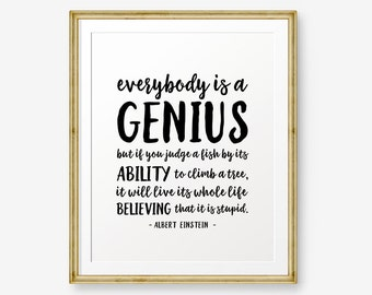 Einstein Quote Etsy