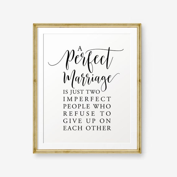 A Perfect Marriage Wedding Gift House Warming Gift Love Etsy