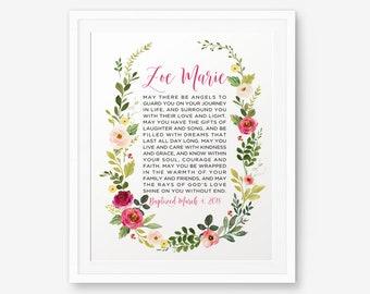 Personalized Baptism Printable, Girl Baptism Gift, Baby Shower Gift, Girl Christening Gift, Baby Dedication Gift, Baptism Sign
