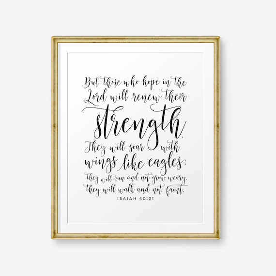 Sale Isaiah 40 31 Bible Verse Printable Christian Nursery Etsy