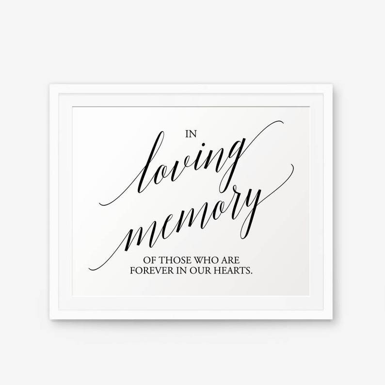 photo regarding In Loving Memory Free Printable called In just Loving Memory Signal, Wedding ceremony indication printable, Marriage ceremony Decor, Marriage Memorial Signal, Inside of Memory of Wedding ceremony, Design 1