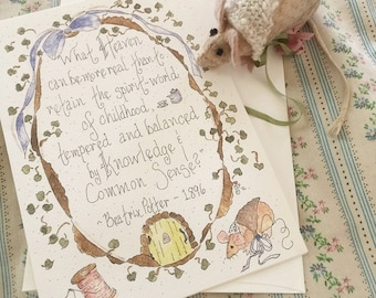 Beatrix Potter Quote …5x7 greeting card