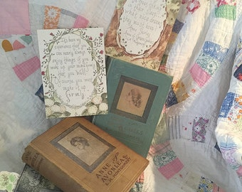 Anne Shirley Quotes  5x7 Cottage Greeting Cards  (set…blank inside)