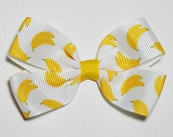 Banana Headband Bananas Bella Hair Bow Banana Clip Banana Pigtail Yellow Fruit Clip Banana Barrette Banana Hair Bow Green Hair Bow