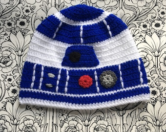 5ab2cb4879f R2D2 inspired Star Wars hat! Crocheted to fit all sizes