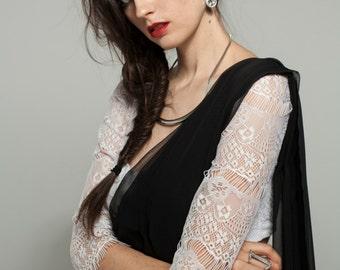 Katerina White Saree Blouse