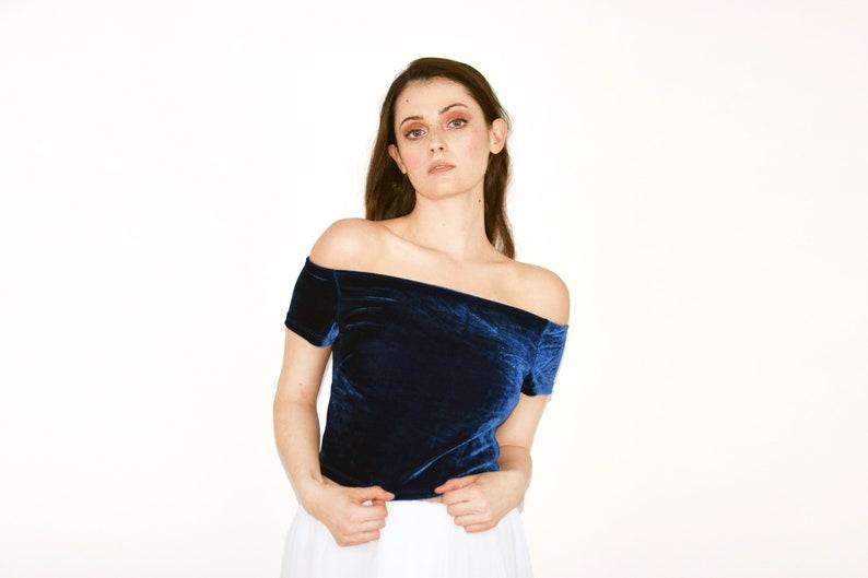 Elizabeth Off Shoulder Saree Blouse image 0