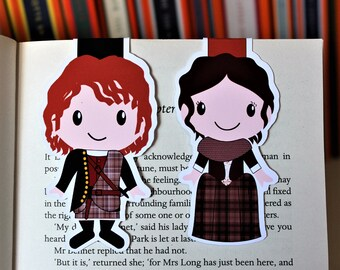 Set of Claire and Jamie Bookmarks   Outlander