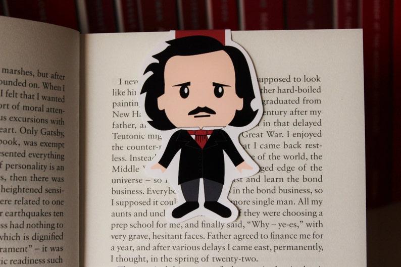 Edgar Allan Poe Magnetic Bookmark image 0
