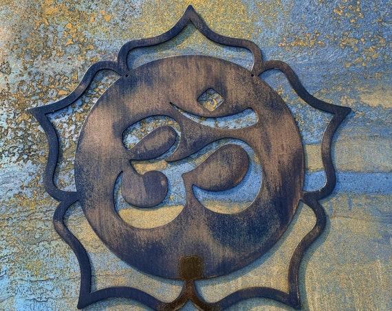Om Lotus Metal Wall Hanging | Mandala