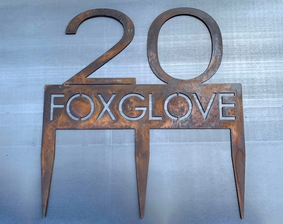 Address Sign with Stakes | Stainless Steel | Custom Address Plaque