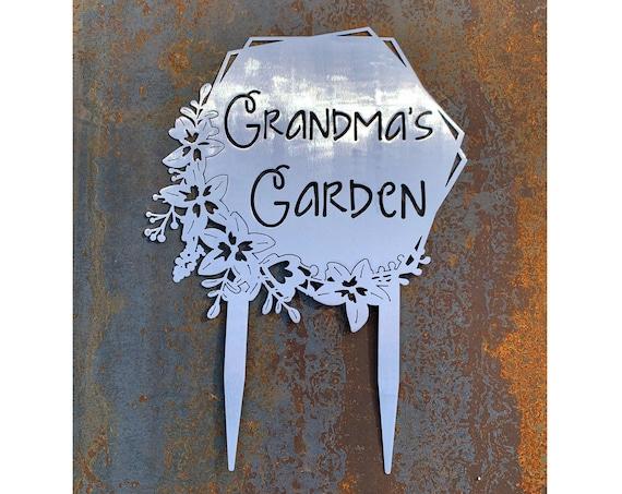 Custom Metal Garden Stakes | Custom Garden Sign | Mother's Day Gift | Gift For Mom | Gift For Grandma