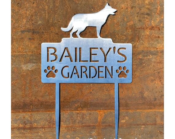 Custom Metal Garden Stakes | Pet Memorial Sign | Dog Garden Sign | Metal Garden Plaque | Pet Grave Marker