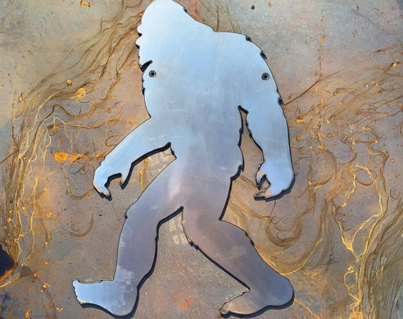 Metal BigFoot Sign for Yard | Yeti for Yard | Steel Sasquatch | Abominable Snowman | Bigfoot Silhouette