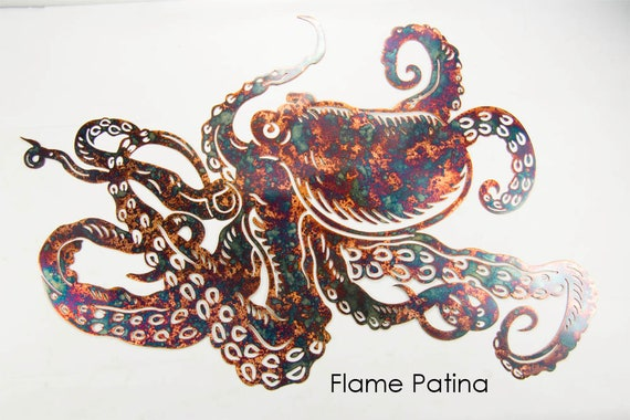 Octopus Art | Metal Octopus | Beach House Decor | Nautical Decor | Ocean Decor