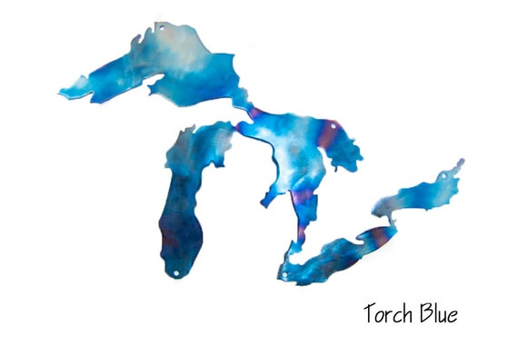 Great Lakes Metal Wall Art | Michigan Art | Fathers Day Gift