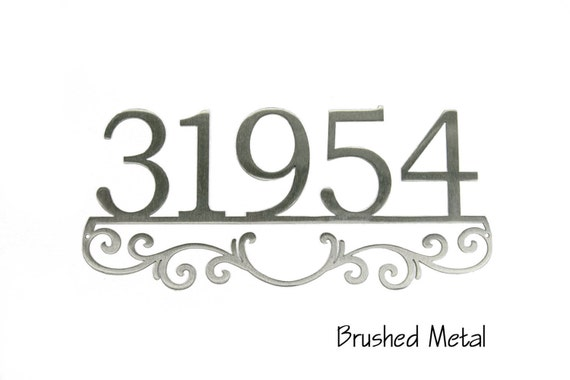 Custom Address Sign | Metal Address Sign | Address Sign with Scrollwork | Metal House Numbers | Custom Outdoor decor