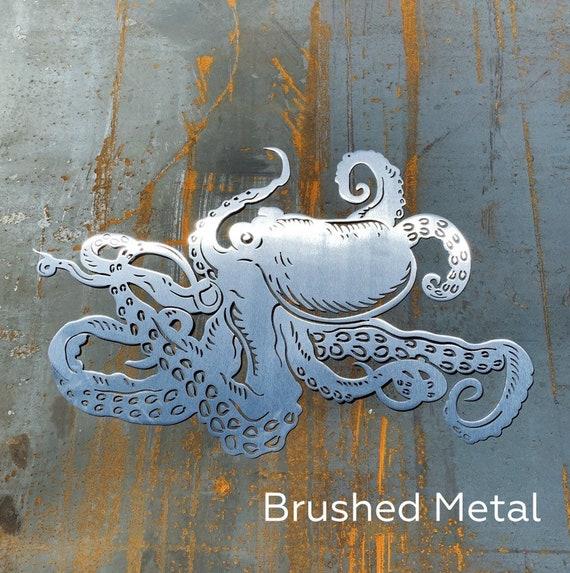 Octopus Art | Metal Octopus | Beach House Decor | Nautical Decor | Ocean Decor