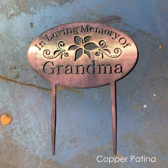 Garden Sign with Stakes | Metal Memorial Plaque | Pet Memorial | In Loving Memory Garden Sign | Dog Grave Marker | Religious Memorial